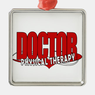 DOCTOR PHYSICAL THERAPY BIG RED CHRISTMAS ORNAMENT