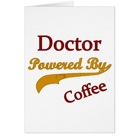 Doctor Powered By coffee Card