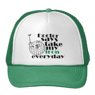 Doctor says take iron 3 mesh hats