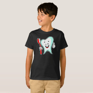 Doctor Smiling Tooth Brush Health Kids T-Shirt