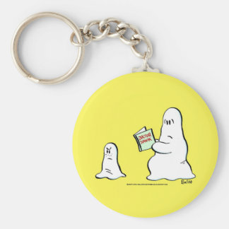 doctor spook basic round button key ring