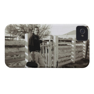 Doctor Standing by a Fence iPhone 4 Case-Mate Cases