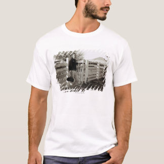 Doctor Standing by a Fence T-Shirt