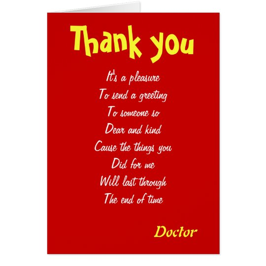Doctor thank you cards