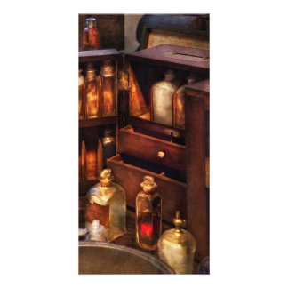 Doctor - The medicine cabinet Personalized Photo Card