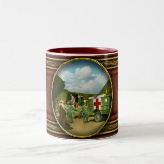 Doctor  - Transferring the wounded Two-Tone Coffee Mug