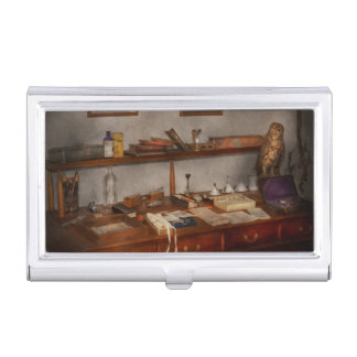 Doctor - Vet - The desk of a Veterinarian Business Card Case
