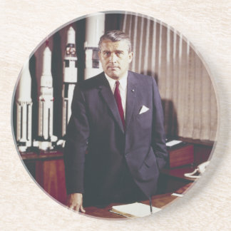 Doctor Wernher von Braun Portrait Beverage Coasters