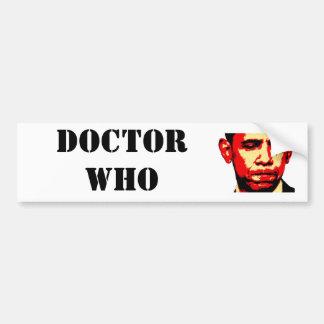 DOCTOR WHO bumper sticker