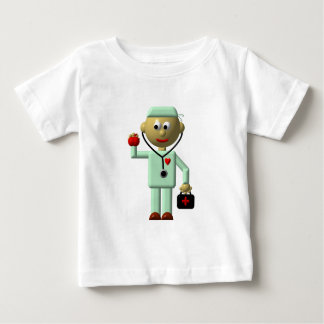 Doctor with Apple and Medical Bag Baby T-Shirt