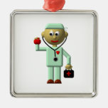Doctor with Apple and Medical Bag Ornament