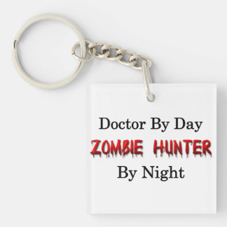 Doctor/Zombie Hunter Single-Sided Square Acrylic Key Ring