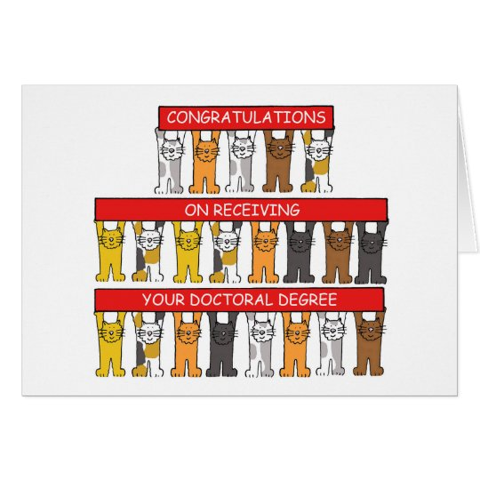 Doctoral Degree Congratulations Card