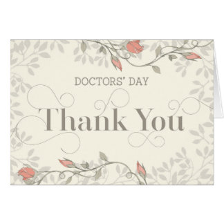 Doctors' Day Card - Thank You in Swirly Text