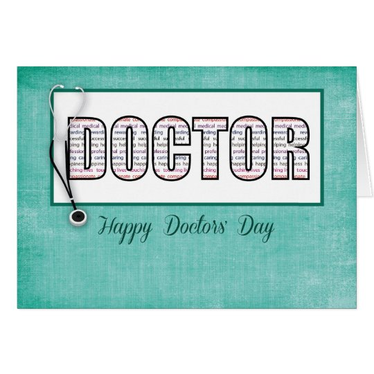 Doctors' Day in Words Card