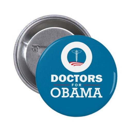 Doctors for Obama Pin