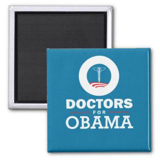 Doctors for Obama Square Magnet