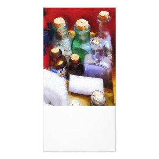 Doctors - Medicine Bottles and Bandages Custom Photo Card