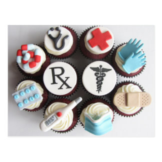 Doctors & Nurses Themed Cupcakes Postcard