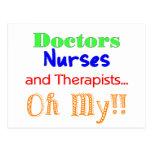Doctors, Nurses, & Therapists Post Card