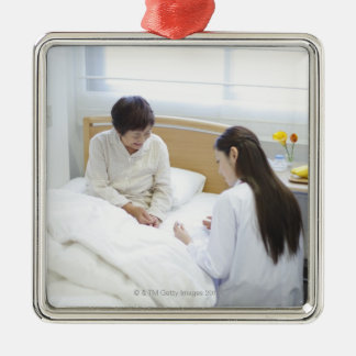 Doctor's rounds Silver-Colored square decoration