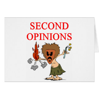 DOCTORsecond opinion joke Greeting Card