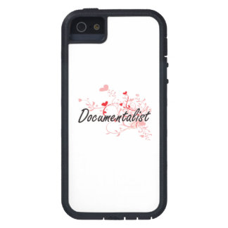 Documentalist Artistic Job Design with Hearts iPhone 5 Cover