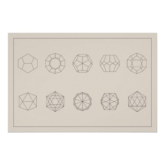 Dodecahedorn and Icosahedron Projections Poster