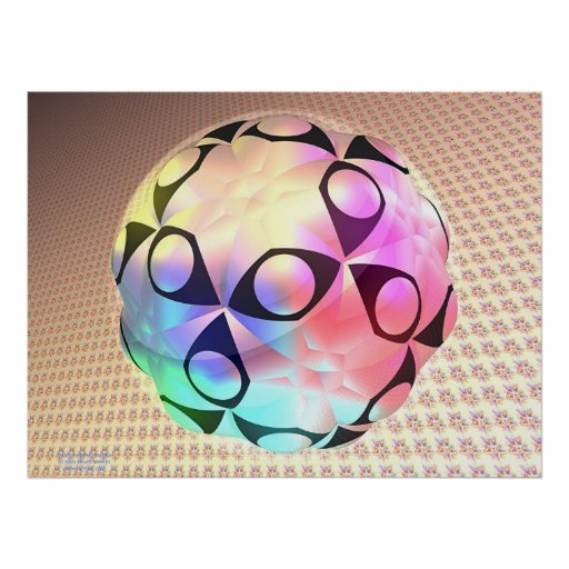 Dodecahedral Bubble Poster
