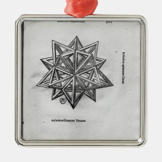 Dodecahedron, from 'De Divina Proportione' Christmas Ornament