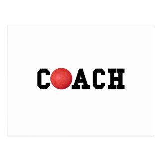 Dodge ball Kickball Coach Postcard