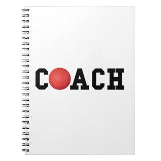 Dodge ball Kickball Coach Spiral Notebook