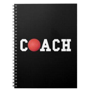Dodge ball Kickball Coach Spiral Notebooks