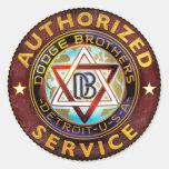Dodge Brothers Round Sticker