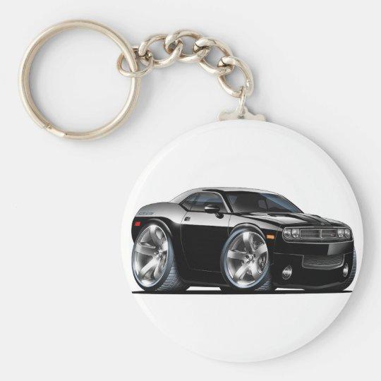 Dodge Challenger Black Car Key Ring