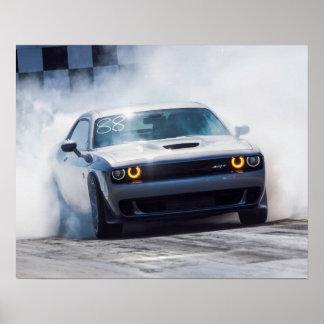 Dodge Challenger Hellcat Poster