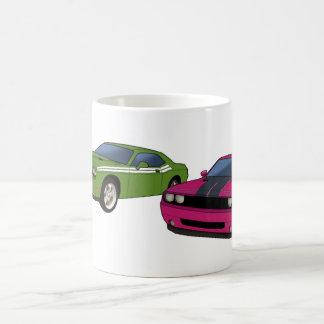 Dodge Challenger race Basic White Mug