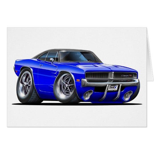 Dodge Charger Blue Car Card