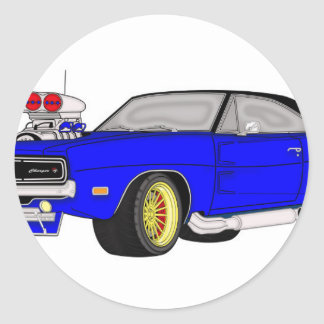 dodge charger classic round sticker