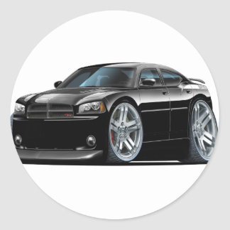Dodge Charger Daytona Black Car Round Sticker