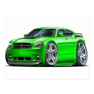 Dodge Charger Daytona Green Car Postcard