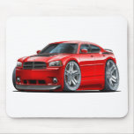 Dodge Charger Daytona Red Car Mouse Pad