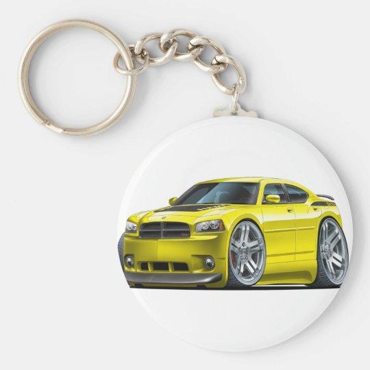 Dodge Charger Daytona Yellow Car Key Ring