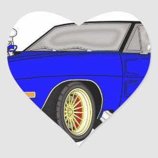 dodge charger heart sticker