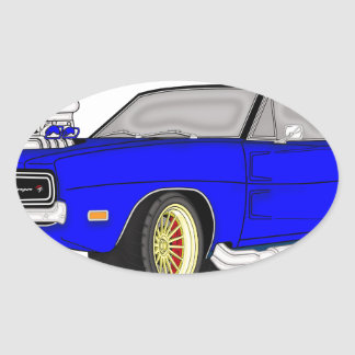 dodge charger oval sticker
