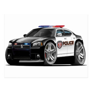Dodge Charger Police Car Postcard