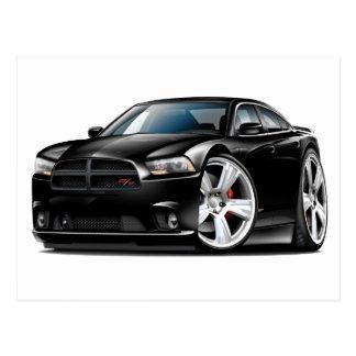 Dodge Charger RT Black Car Postcards