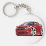 Dodge Charger RT Red Car Basic Round Button Key Ring