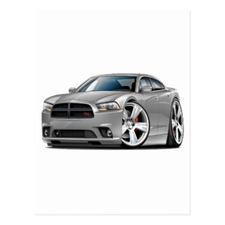 Dodge Charger RT Silver Car Postcard