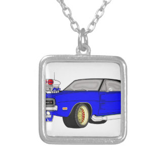 dodge charger silver plated necklace